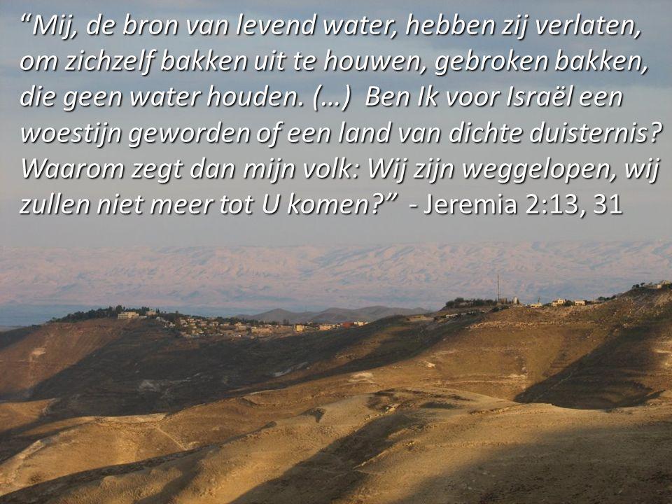 Mij, de bron van levend water, hebben zij verlaten, om zichzelf bakken uit te houwen, gebroken bakken, die geen water houden.