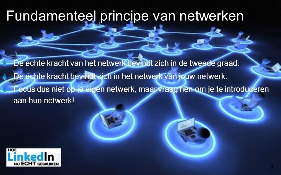 De échte kracht van het netwerk bevindt zich in de tweede graad. De échte kracht bevindt zich in het netwerk van jouw netwerk. Focus dus niet op je ei