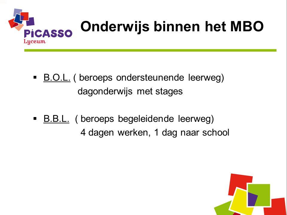 Onderwijs binnen het MBO  B.O.L.