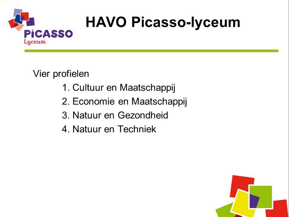 HAVO Picasso-lyceum Vier profielen 1. Cultuur en Maatschappij 2.