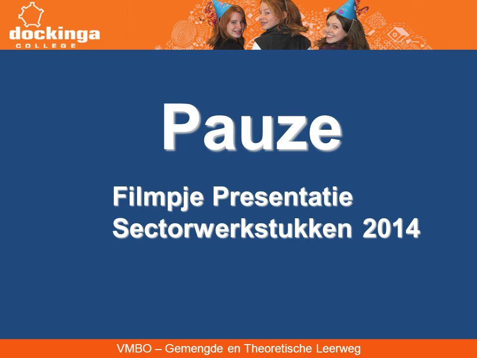 VMBO – Gemengde en Theoretische Leerweg Pauze Filmpje Presentatie Sectorwerkstukken 2014