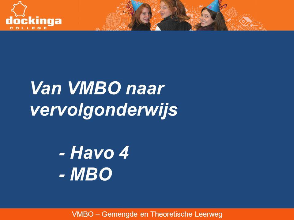 Van VMBO naar vervolgonderwijs - Havo 4 - MBO