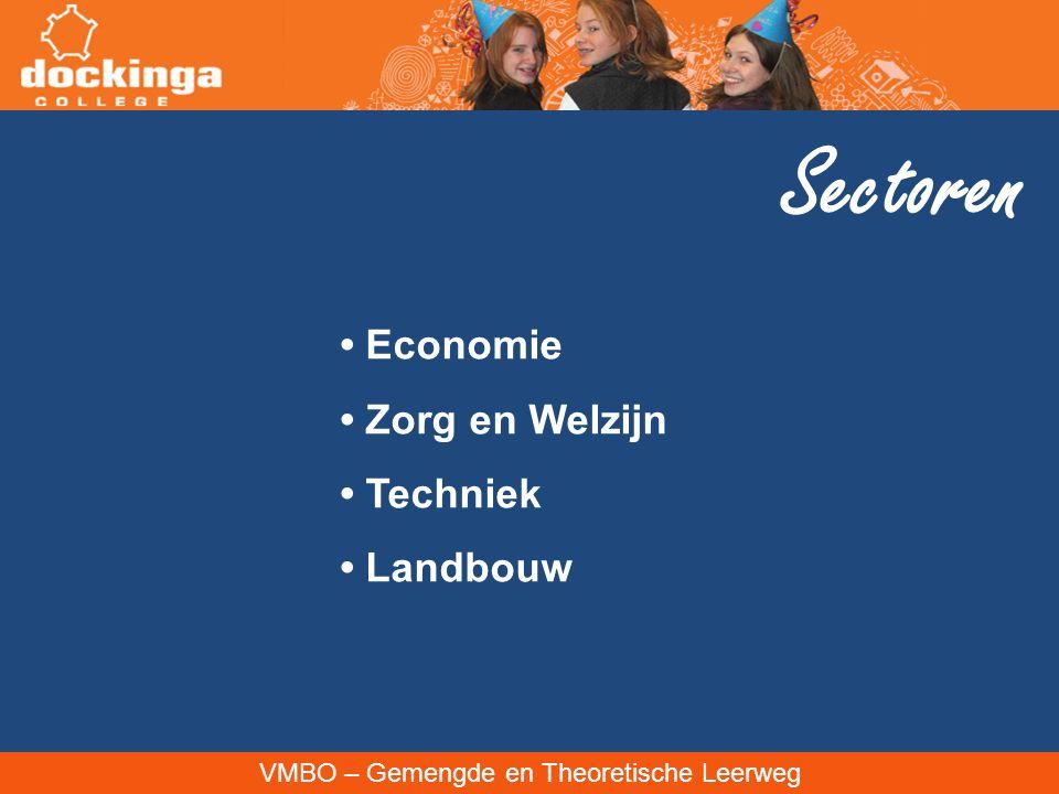 VMBO – Gemengde en Theoretische Leerweg Sectoren Economie Zorg en Welzijn Techniek Landbouw