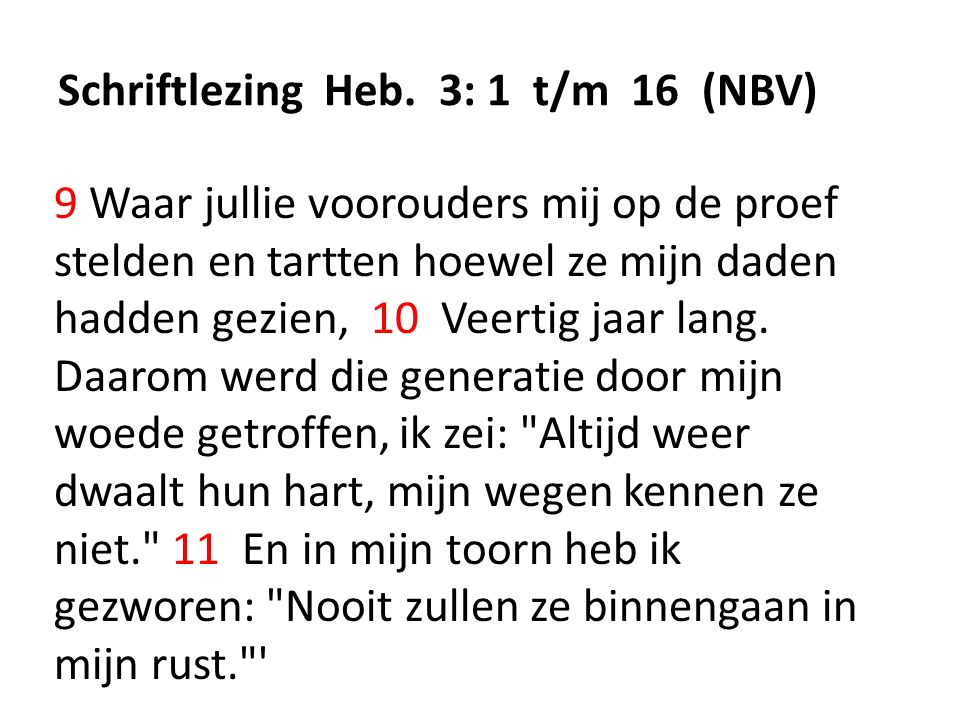 Schriftlezing Heb.