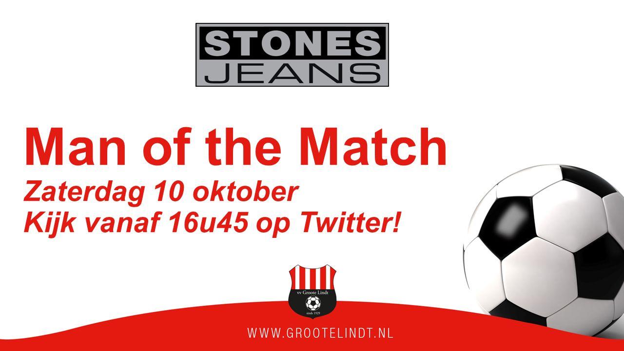 Man of the Match Zaterdag 10 oktober Kijk vanaf 16u45 op Twitter!