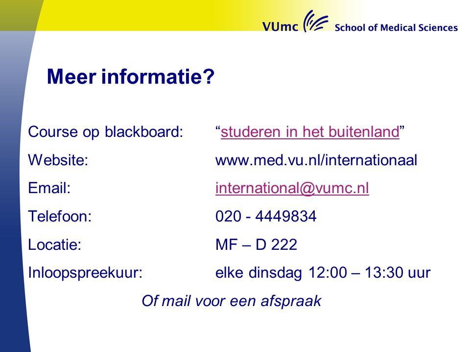 Meer informatie.