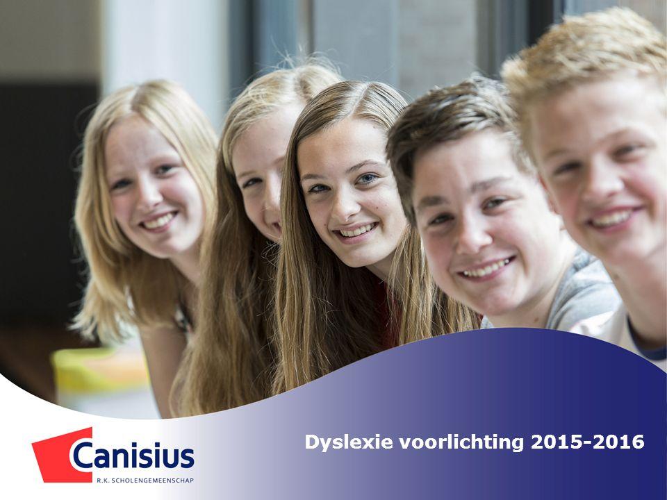 Vraagje…….Wat doet Canisius tegen dyslexie. Helaas is dyslexie niet te verhelpen.