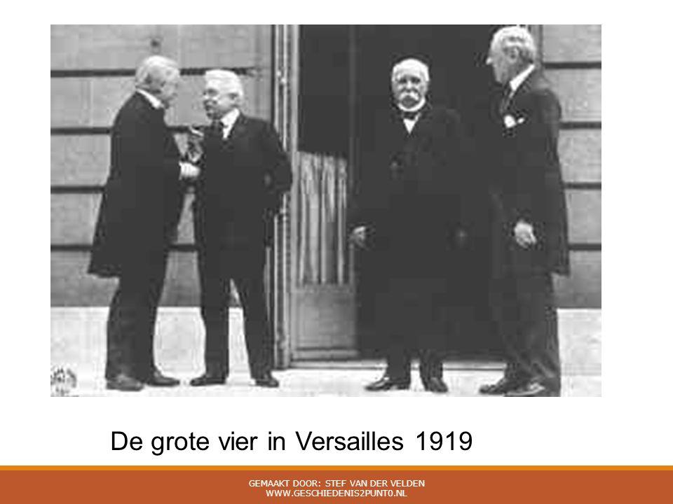 De grote vier in Versailles 1919