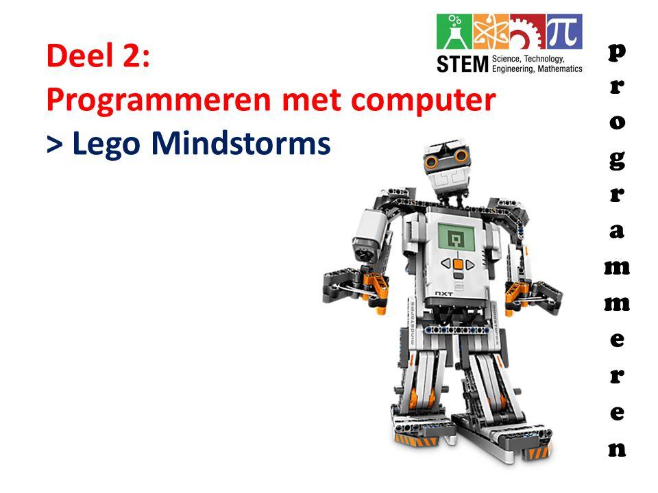 Deel 2: Programmeren met computer > Lego Mindstorms