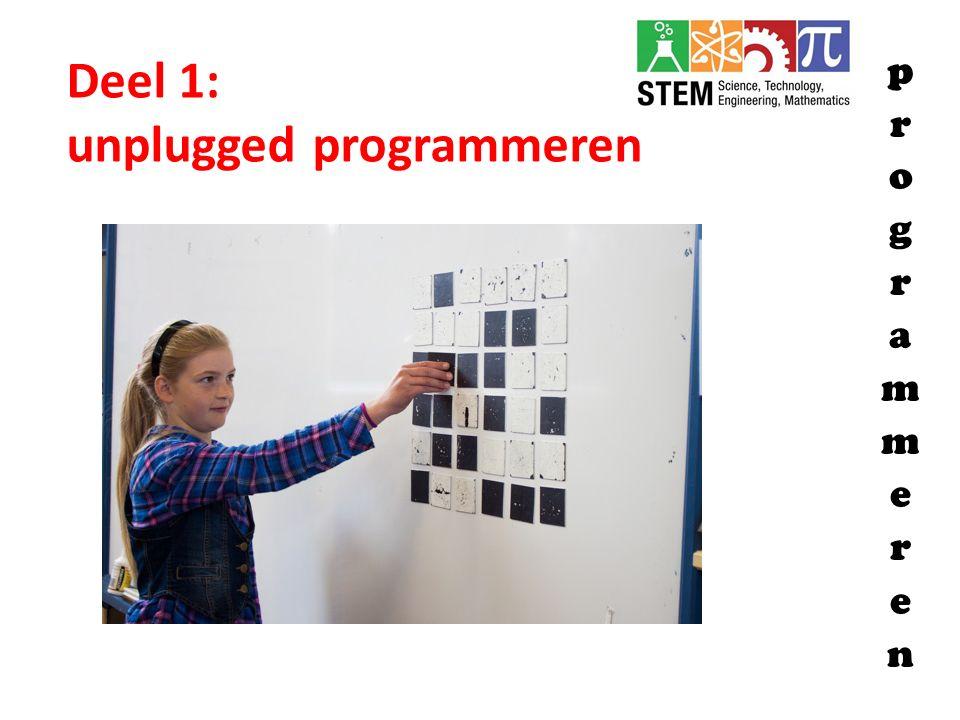 Deel 1: unplugged programmeren