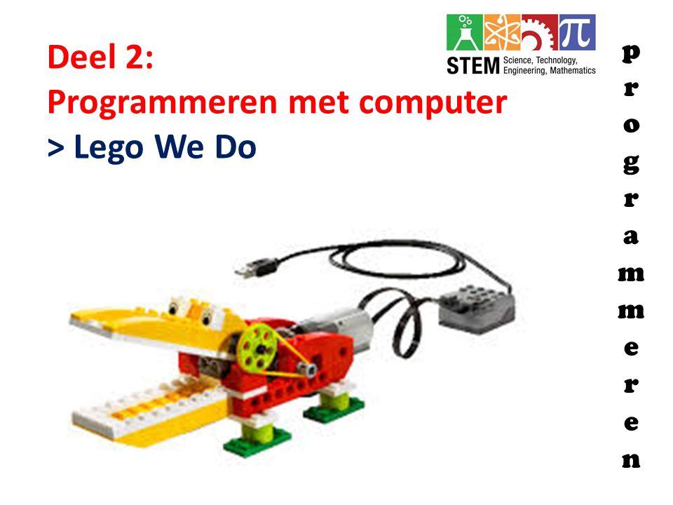 Deel 2: Programmeren met computer > Lego We Do