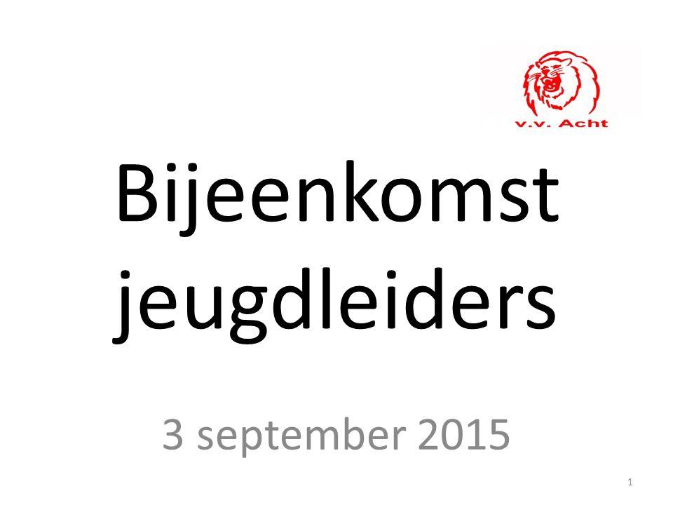 Bijeenkomst jeugdleiders 3 september 2015 1