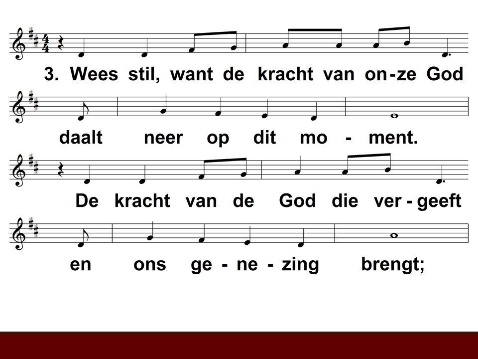 Wees stil voor het aangezicht van God (EL 241)t. & m. D.J. Evans; v. P. van Essen