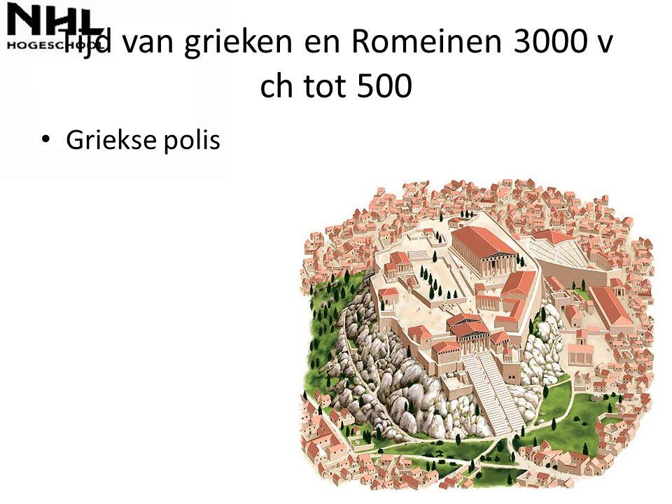 Tijd van grieken en Romeinen 3000 v ch tot 500 Griekse polis