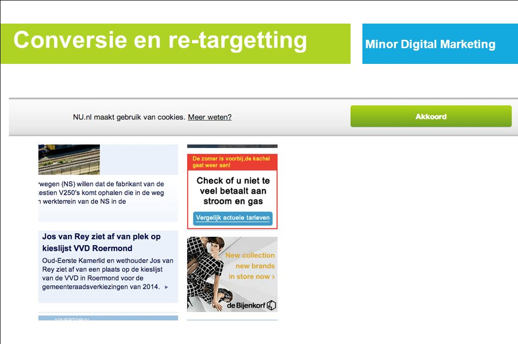 Conversie en re-targetting Minor Digital Marketing