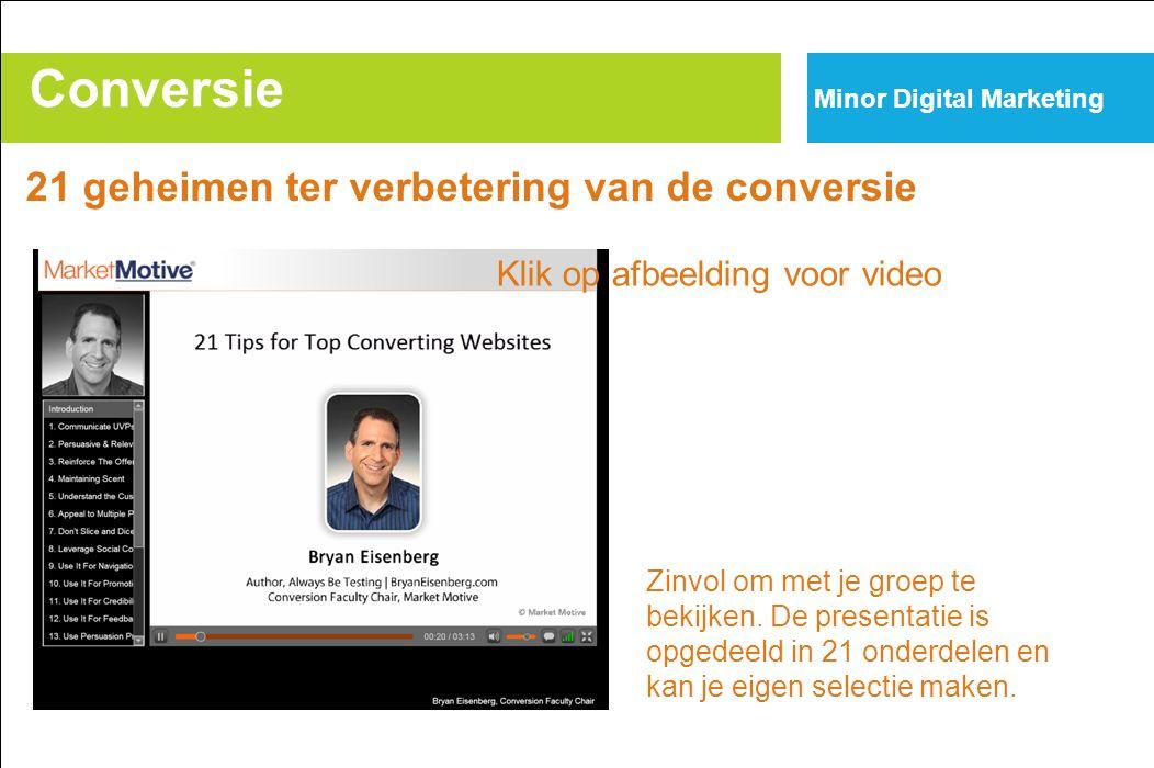 Conversie Minor Digital Marketing 21 geheimen ter verbetering van de conversie Zinvol om met je groep te bekijken.