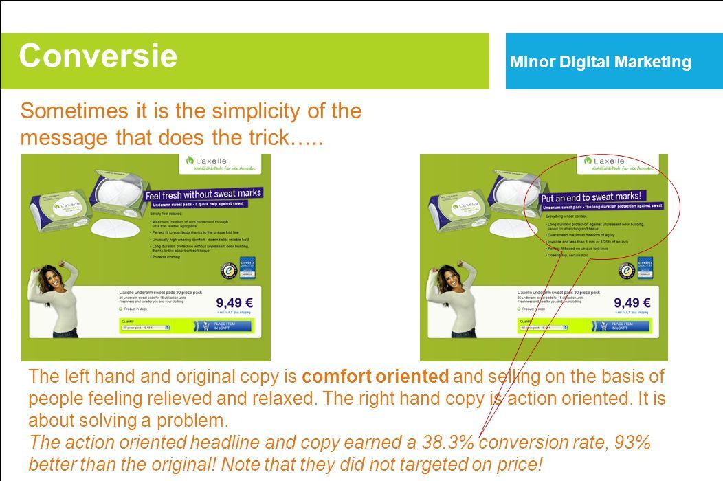 Acquire Inform Advise Convert CR 2% Acquisition processOK Information processPOOR Conversion processOK Acquisition processOK Information processPOOR Conversion processOK Conversion Minor Digital Marketing