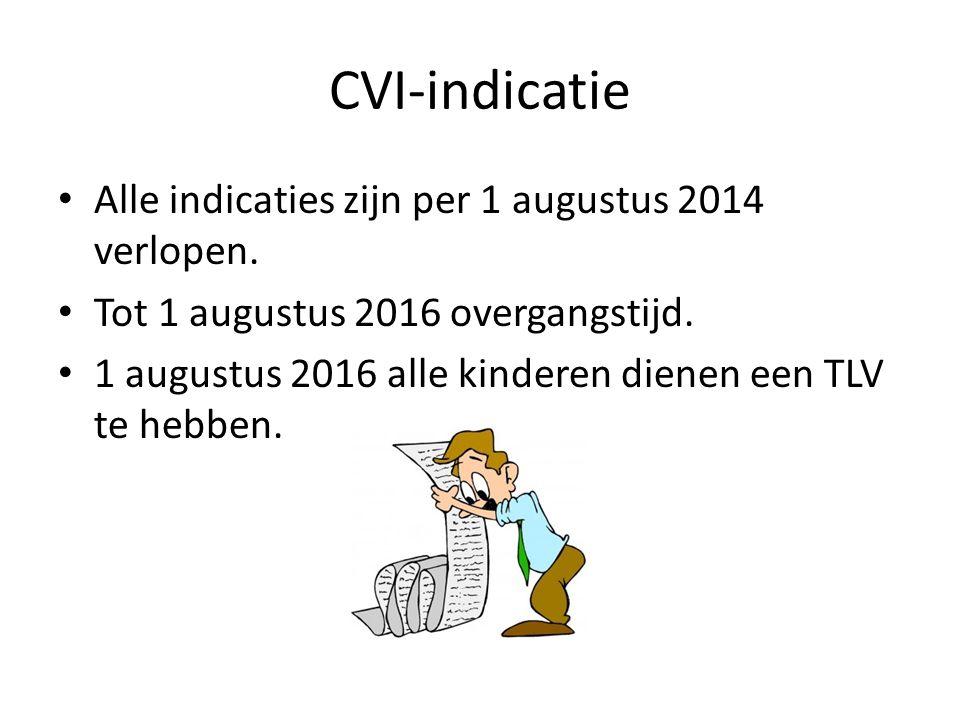 CVI-indicatie Alle indicaties zijn per 1 augustus 2014 verlopen.