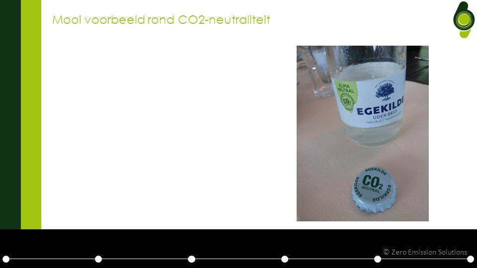 Mooi voorbeeld rond CO2-neutraliteit © Zero Emission Solutions
