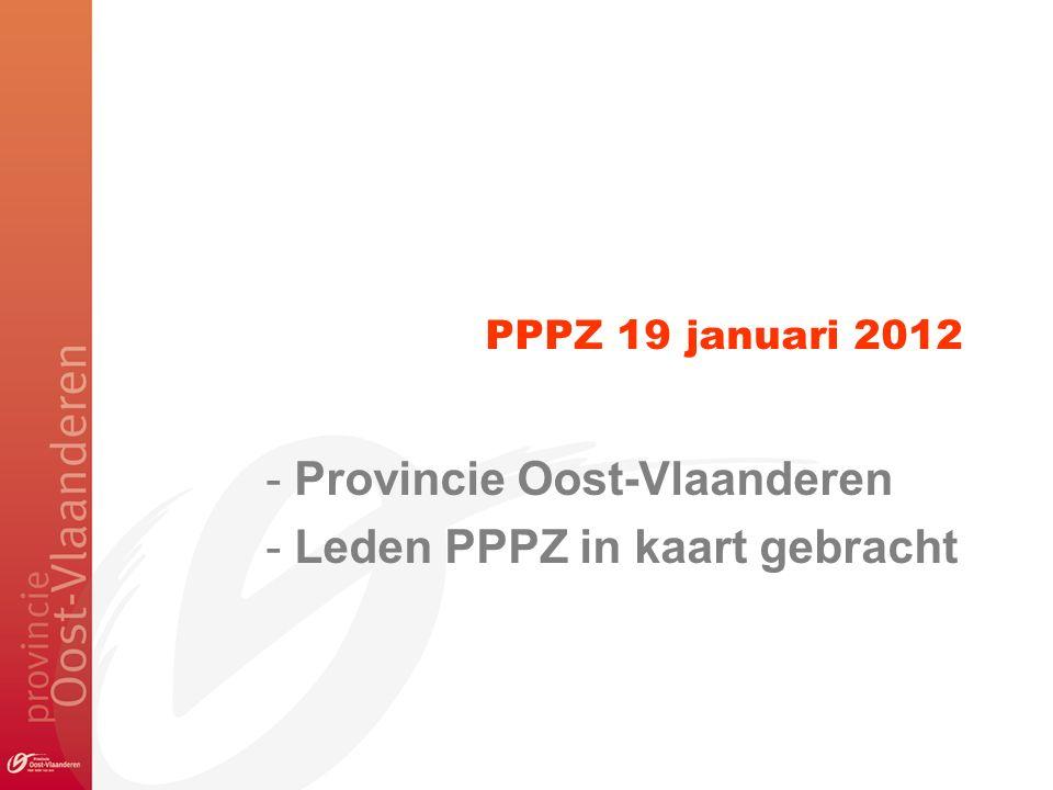 PPPZ 19 januari 2012 - Provincie Oost-Vlaanderen - Leden PPPZ in kaart gebracht