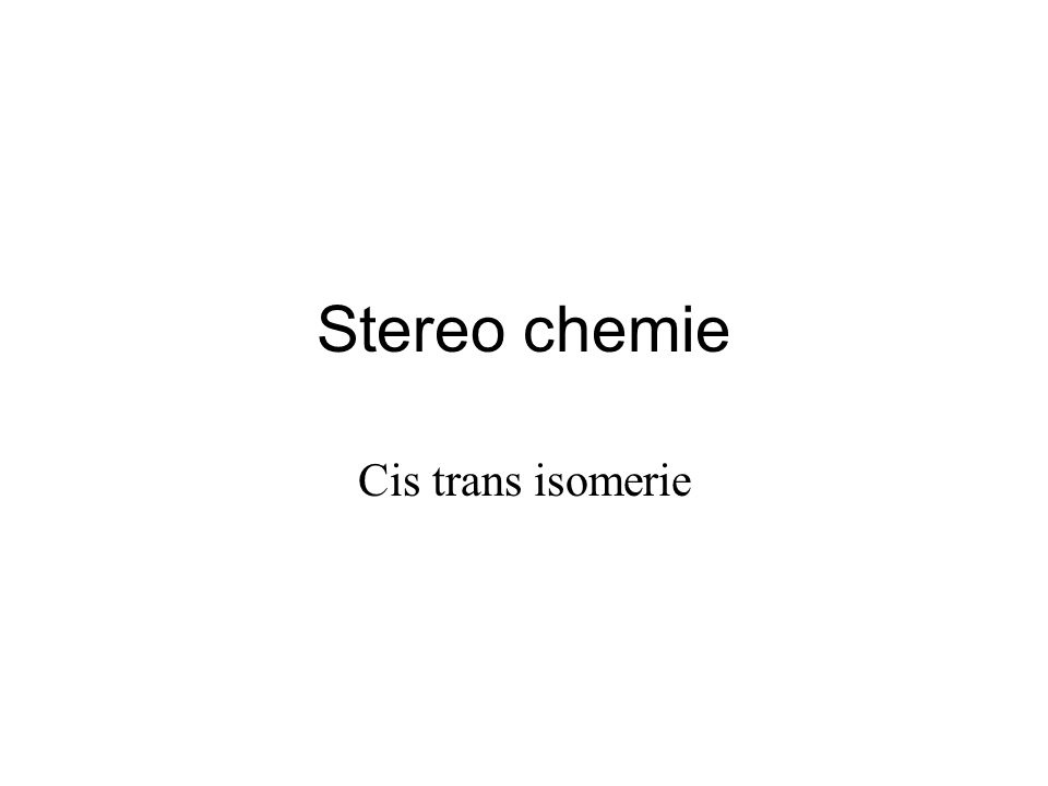 stereochemie Voorspellen hoeveel stereoisomeren er theoretisch kunnen zijn van een verbinding tel aantal dubbele bindingen met cis trans (x) tel aantal asymmetrische koolstof atomen (y) aantal isomeren = 2 (x+y) Voorbeeld Hoeveel stereo isomeren bestaan er van de volgende stof 2 (x+y) = 2 (2+1) = 2 3 = 8
