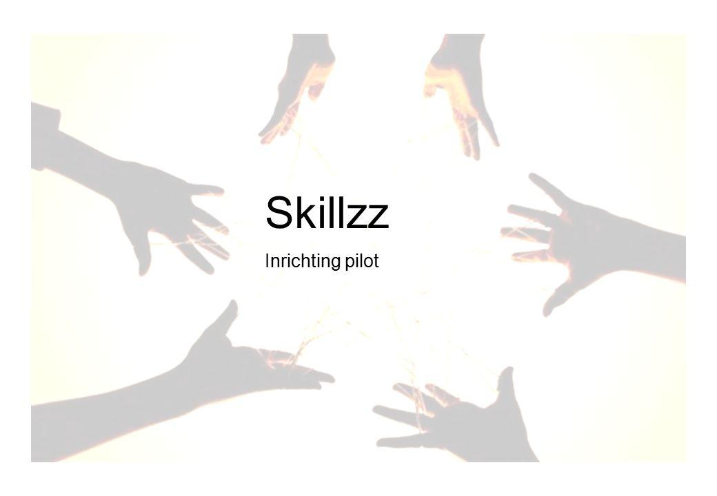 Skillz voorbereiden gebruik Skillzz Inrichting pilot