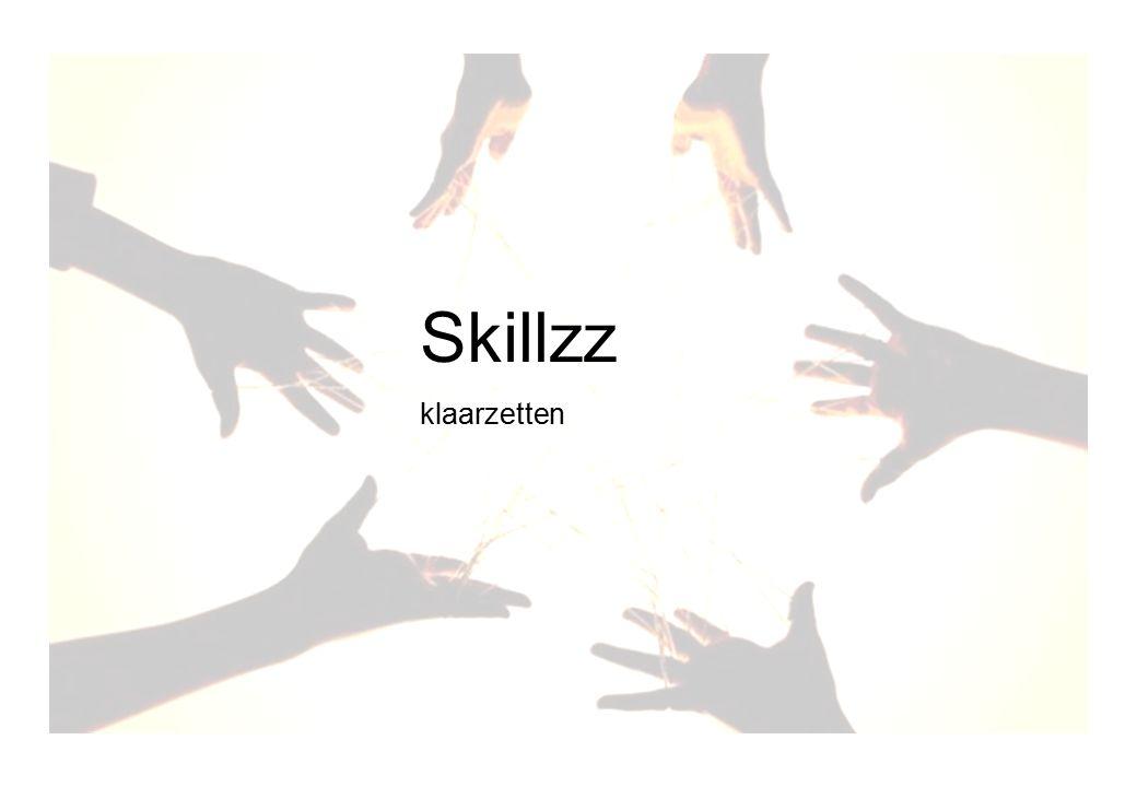 Skillz voorbereiden gebruik Skillzz klaarzetten