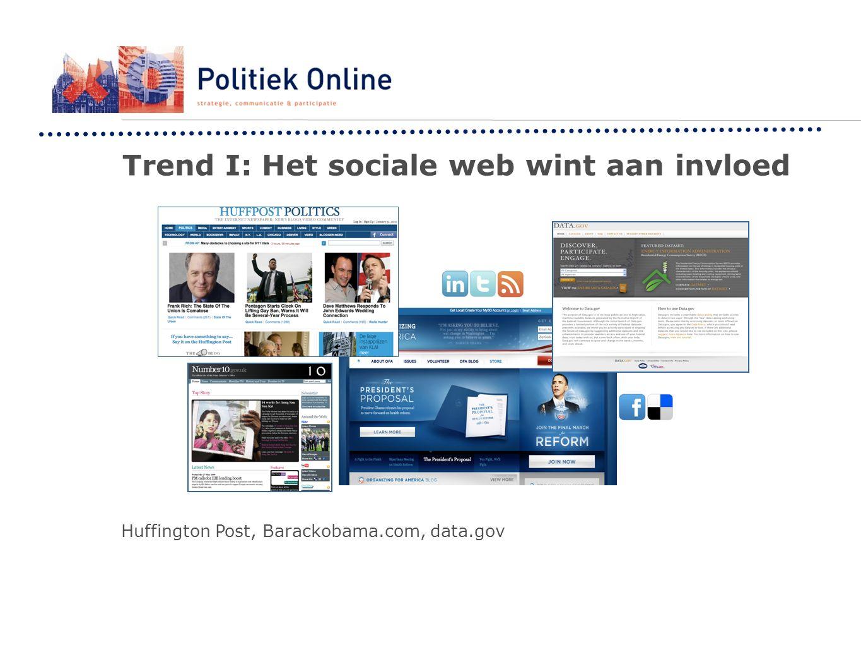 Trend I: Het sociale web wint aan invloed Huffington Post, Barackobama.com, data.gov