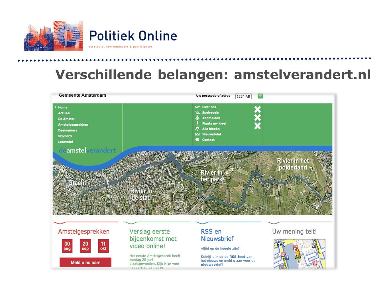 Verschillende belangen: amstelverandert.nl