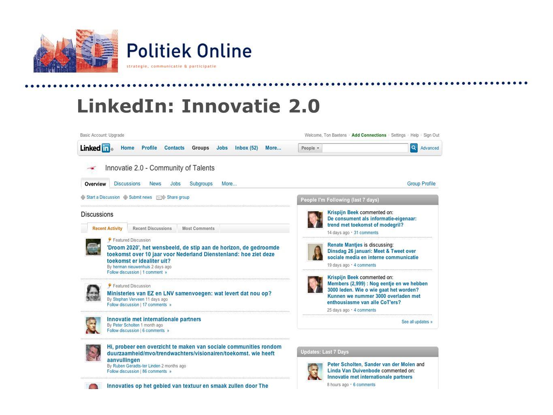 LinkedIn: Innovatie 2.0