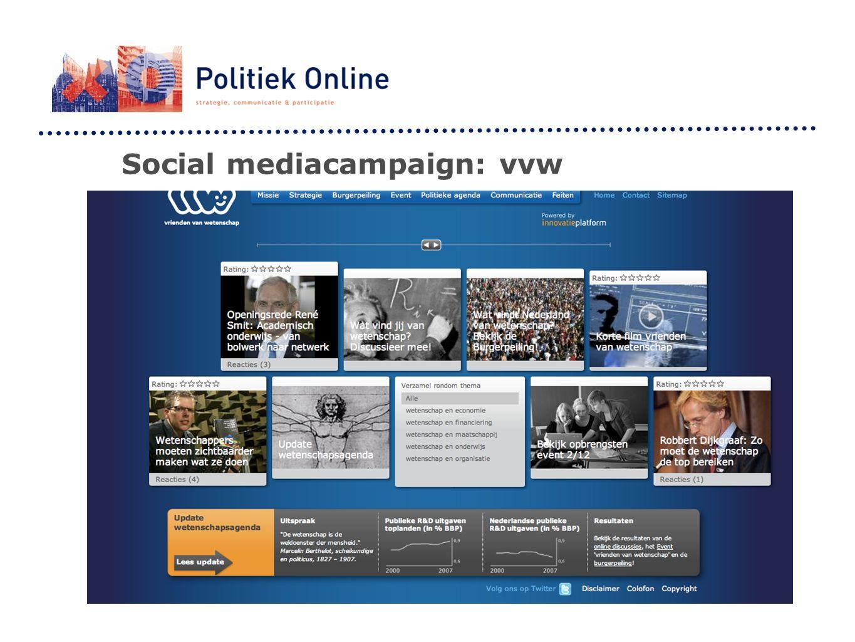 Social mediacampaign: vvw