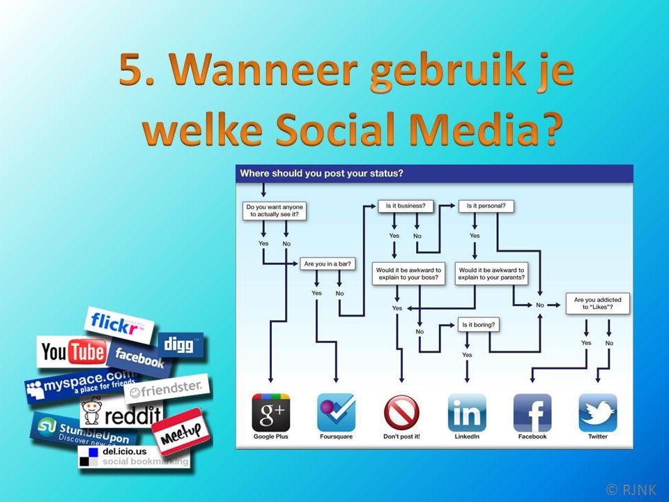 Dit was onze presentatie over Social Media © RJNK