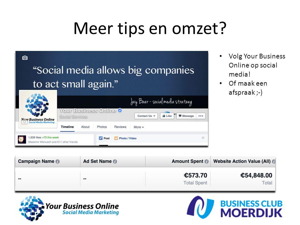 Meer tips en omzet? Volg Your Business Online op social media! Of maak een afspraak ;-)