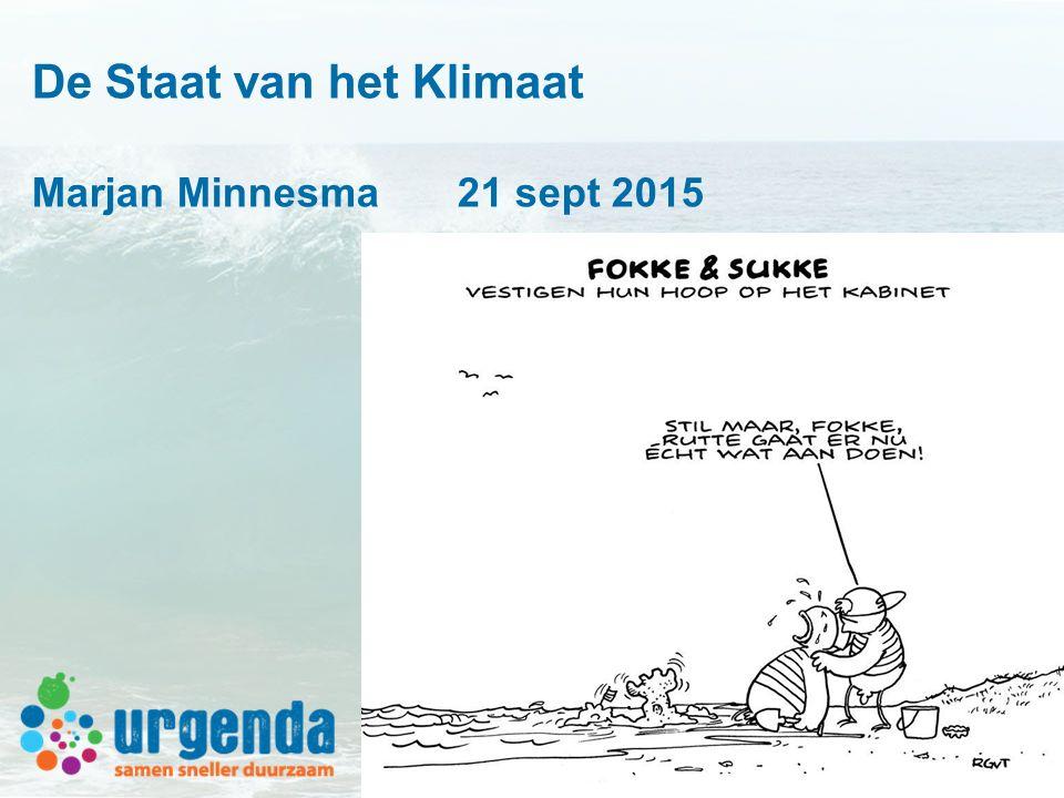 De Staat van het Klimaat Marjan Minnesma 21 sept 2015