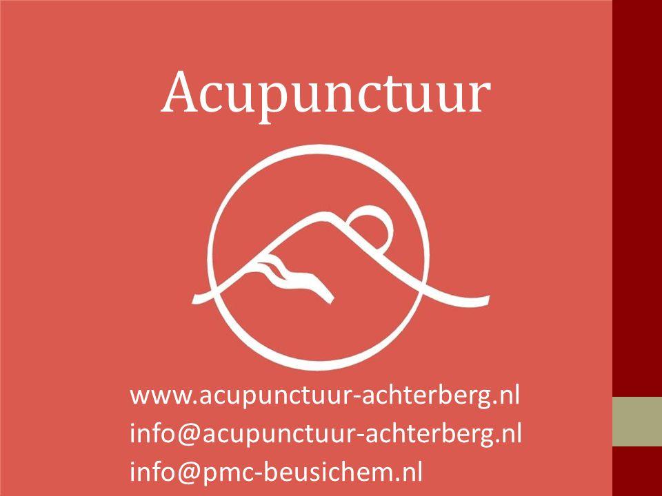 Acupunctuur www.acupunctuur-achterberg.nl info@acupunctuur-achterberg.nl info@pmc-beusichem.nl