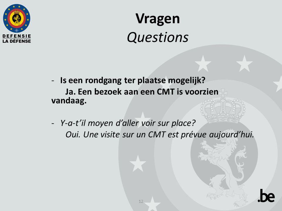 12 Vragen Questions -Is een rondgang ter plaatse mogelijk.