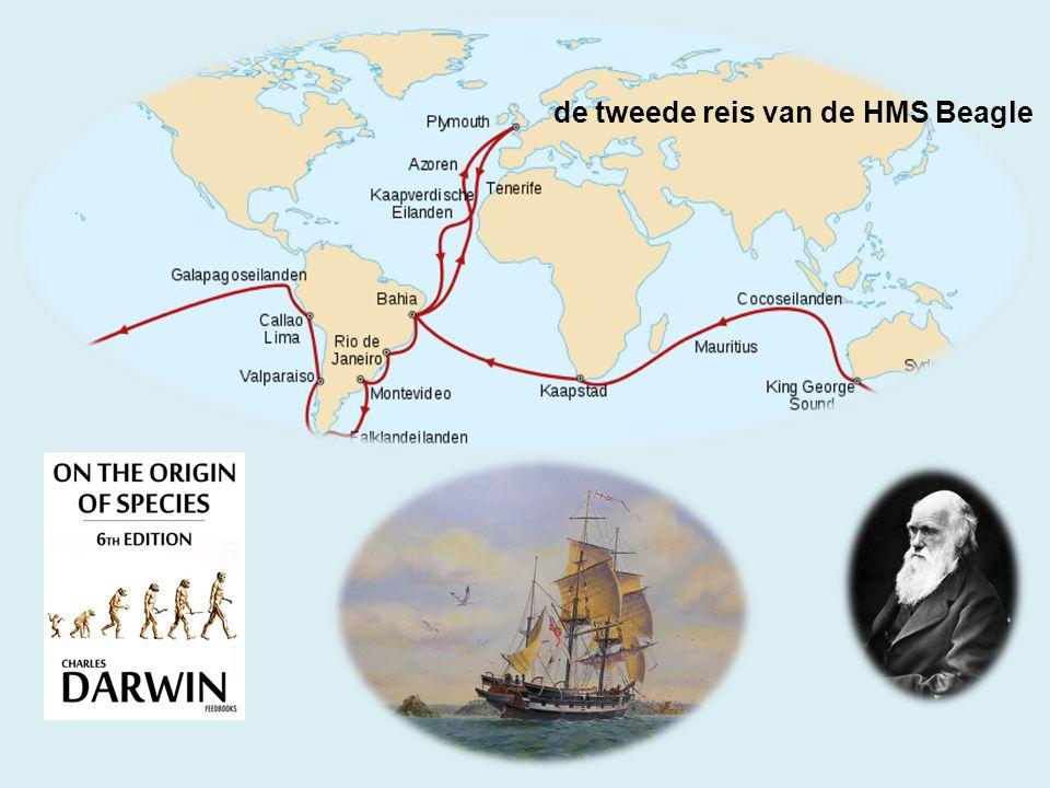 de tweede reis van de HMS Beagle