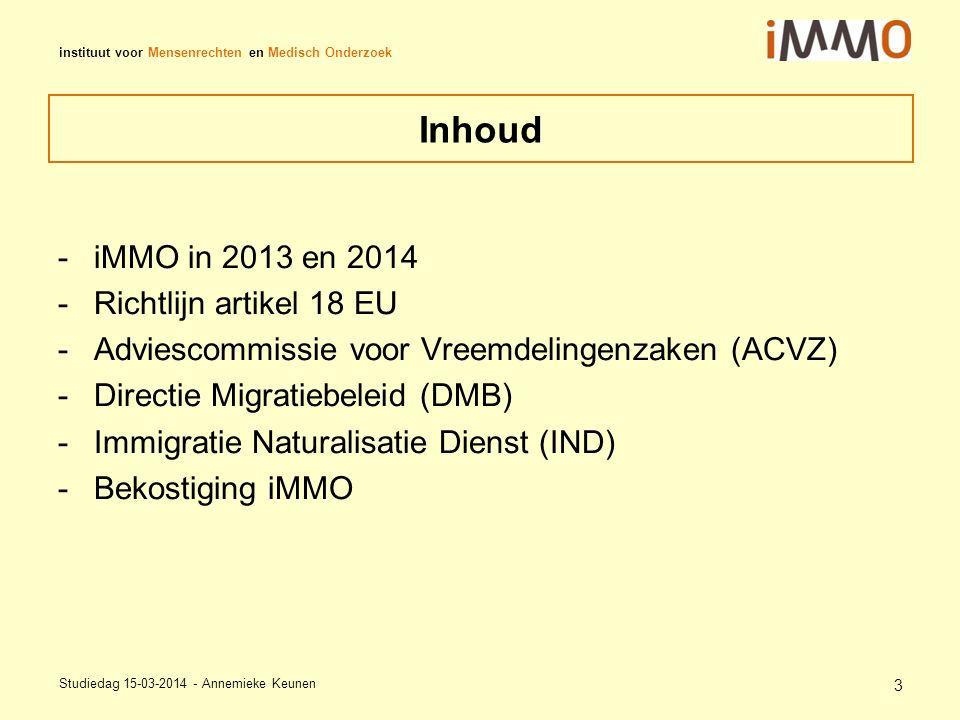 instituut voor Mensenrechten en Medisch Onderzoek Asiel Nederland instroom 2013 In Nederland was afgelopen jaren sprake van dalende trend vergeleken met rest Europa 2013 instroom gestegen; meer dan op Europees niveau namelijk met 31%.