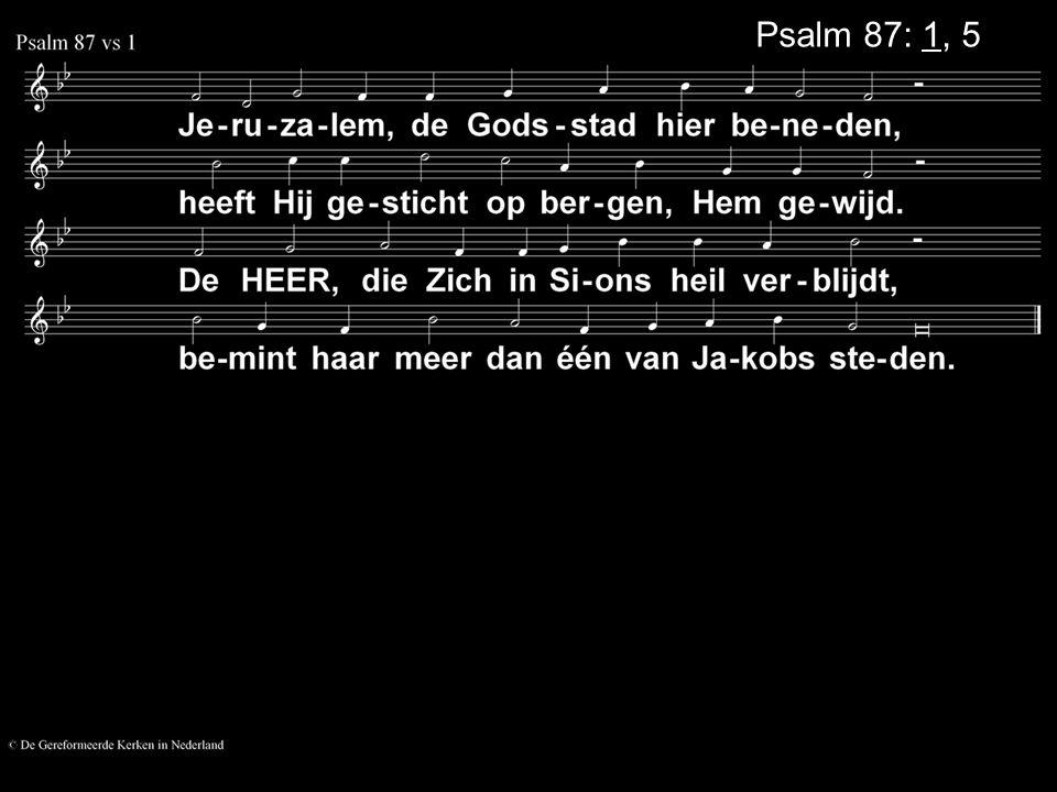 Psalm 87: 1, 5