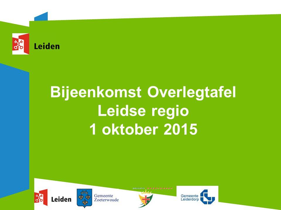 Bijeenkomst Overlegtafel Leidse regio 1 oktober 2015