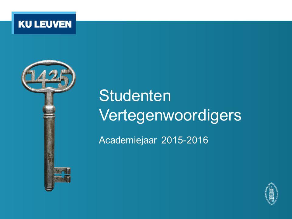 Studenten Vertegenwoordigers Academiejaar 2015-2016