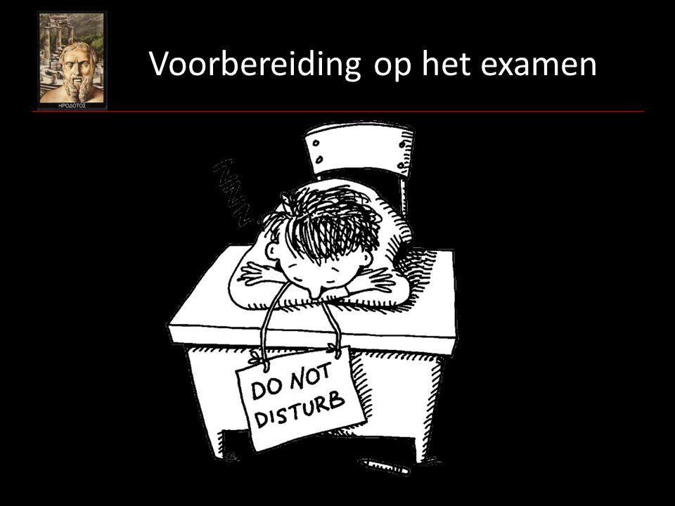 Voorbereiding op het examen