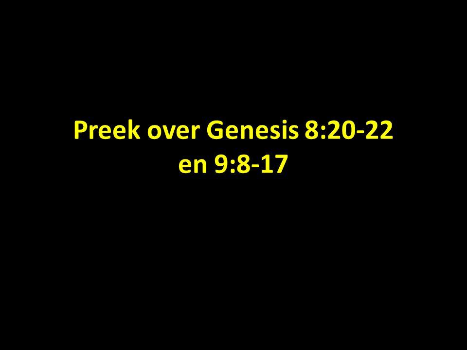 Preek over Genesis 8:20-22 en 9:8-17