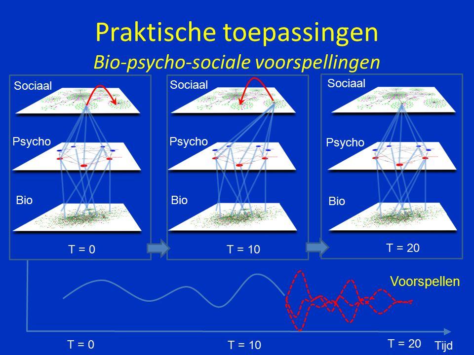 Sociaal Bio Psycho Farmacotherapie Psychotherapie Systeemtherapie CGT IPT Schemagericht Persoonlijkheid Fenotype TMS / ECT Sociale netwerk Brein Biochemie Praktische toepassingen Systematische indicatiestelling Psychopathologie ( klachten )