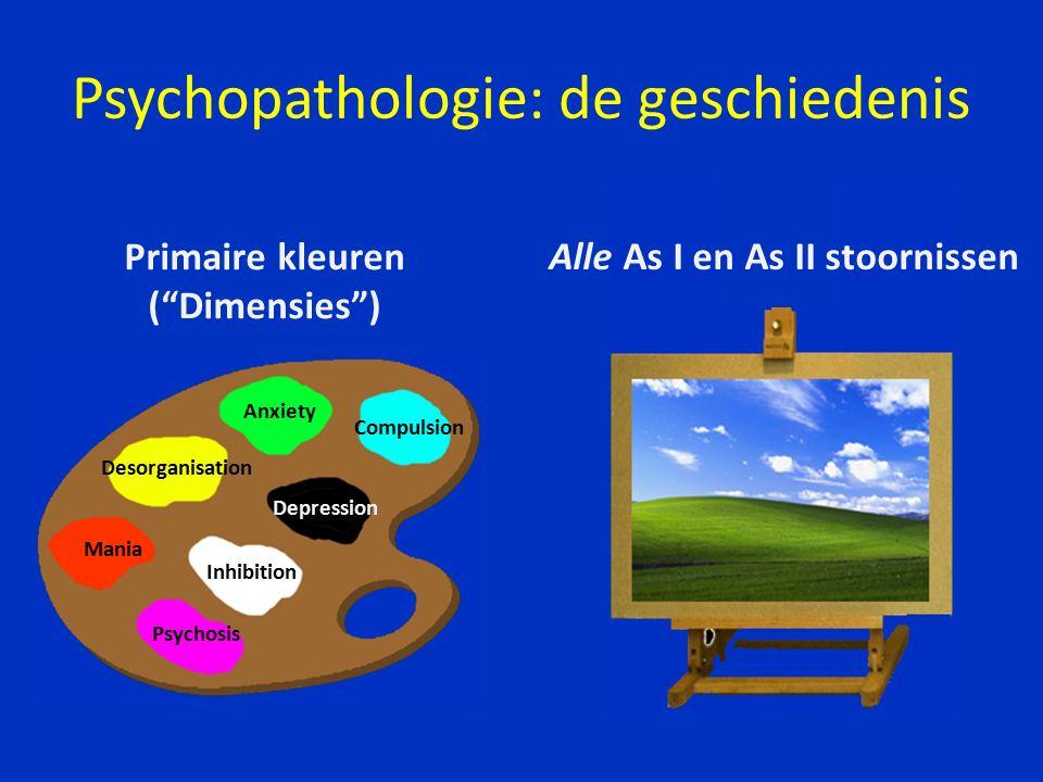 Karl Jaspers Mengvormen van 'elementaire' syndromen Psychopathologie: de geschiedenis 1883 – 1969