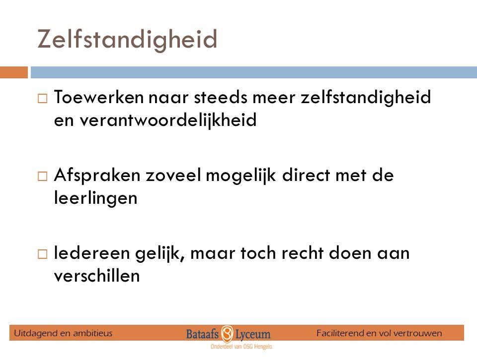 Steunlessen  Nederlands, Engels en Wiskunde  In verband met kernvakregeling  Deelname verplicht indien noodzakelijk Uitdagend en ambitieus Faciliterend en vol vertrouwen