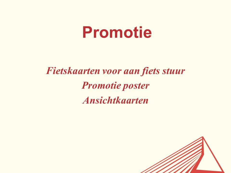 Promotie Fietskaarten voor aan fiets stuur Promotie poster Ansichtkaarten