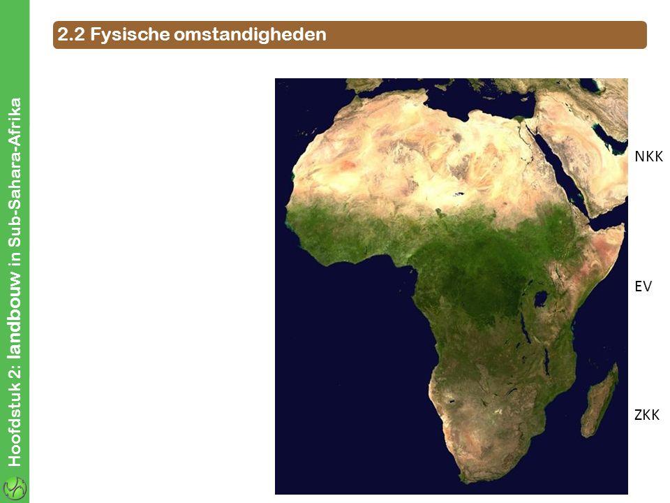 Hoofdstuk 2: landbouw in Sub-Sahara-Afrika NKK EV ZKK 2.2 Fysische omstandigheden ZENITALE REGENS
