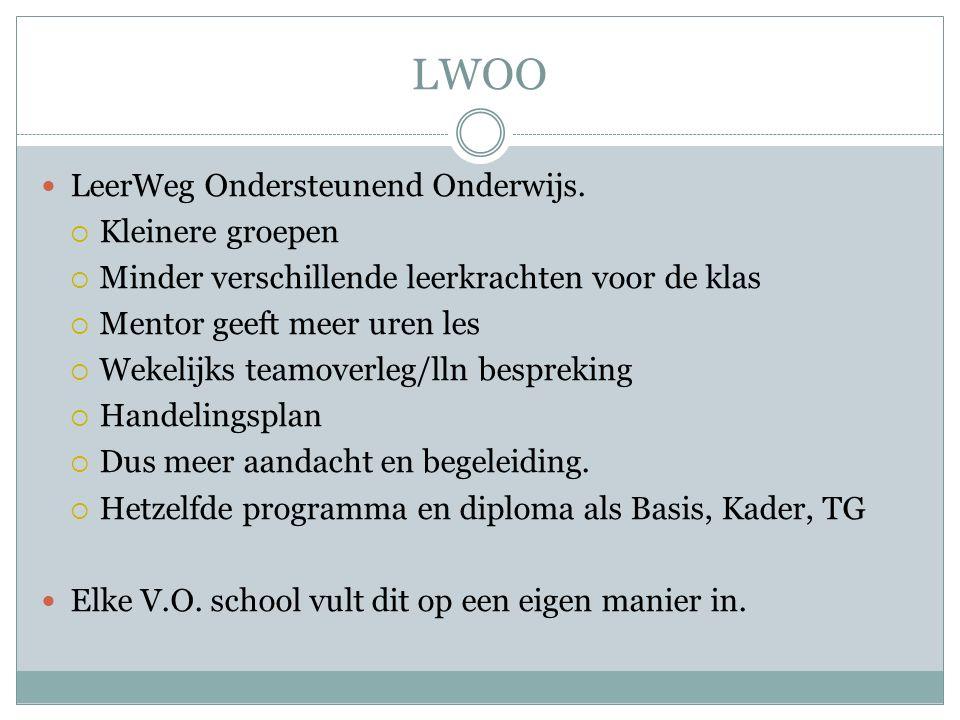 LWOO LeerWeg Ondersteunend Onderwijs.