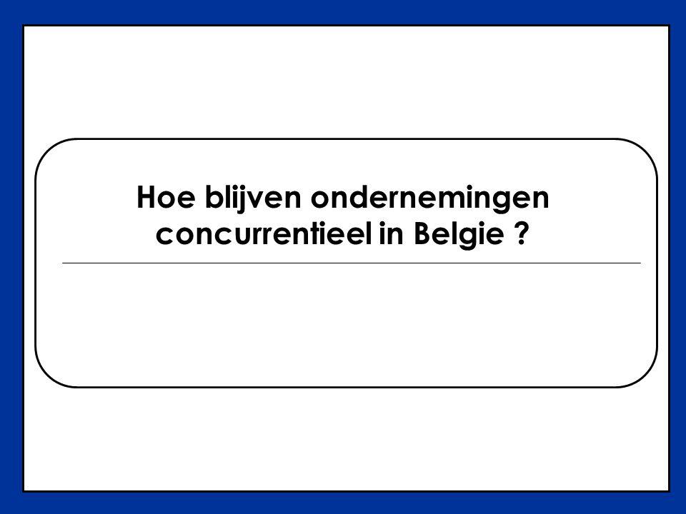 Hoe blijven ondernemingen concurrentieel in Belgie ?